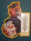 Joe Cool Camel Cigarettes Advertising Tin Sign w/ Thermometer © 1992