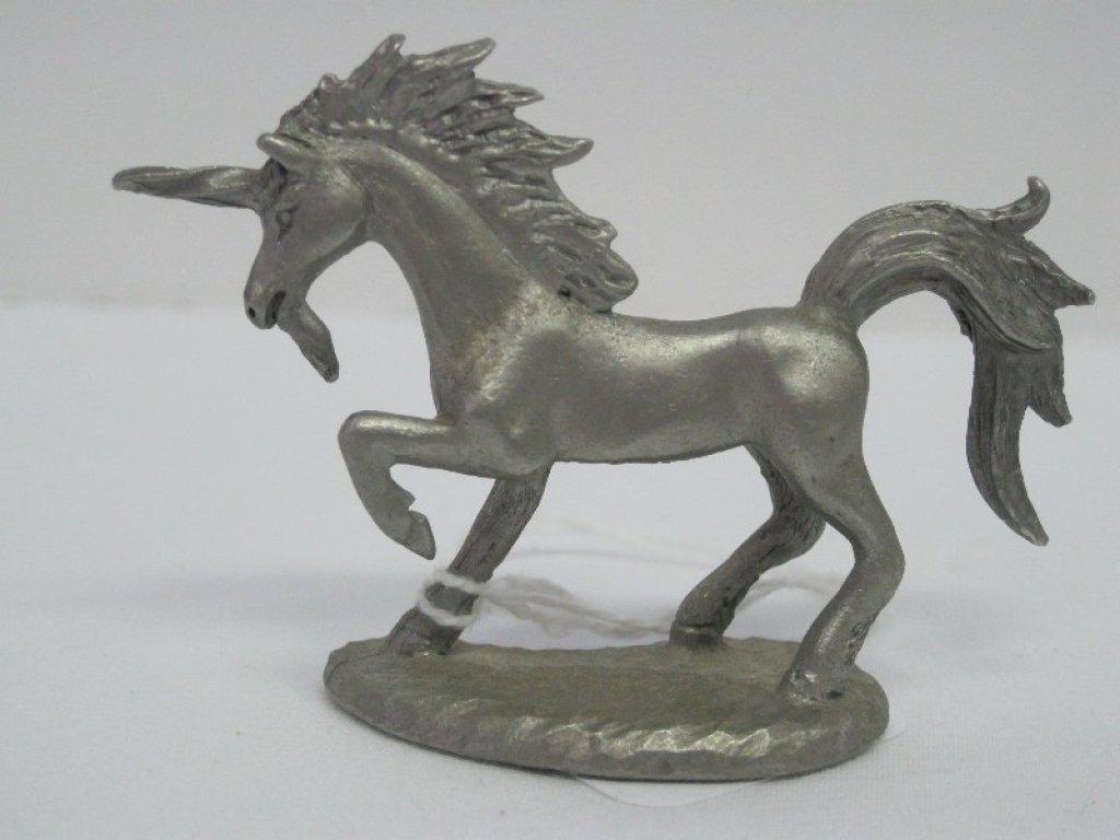 Lot: Pewter Spoontiques Unicorn Figurine   Proxibid Auctions