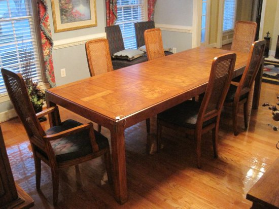Henredon Furniture Artefacts Collection Campaign Style Dining Table