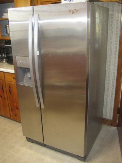 Whirlpool Stainless Side x Side Refrigerator w/ Water Filtration, Ice Maker,