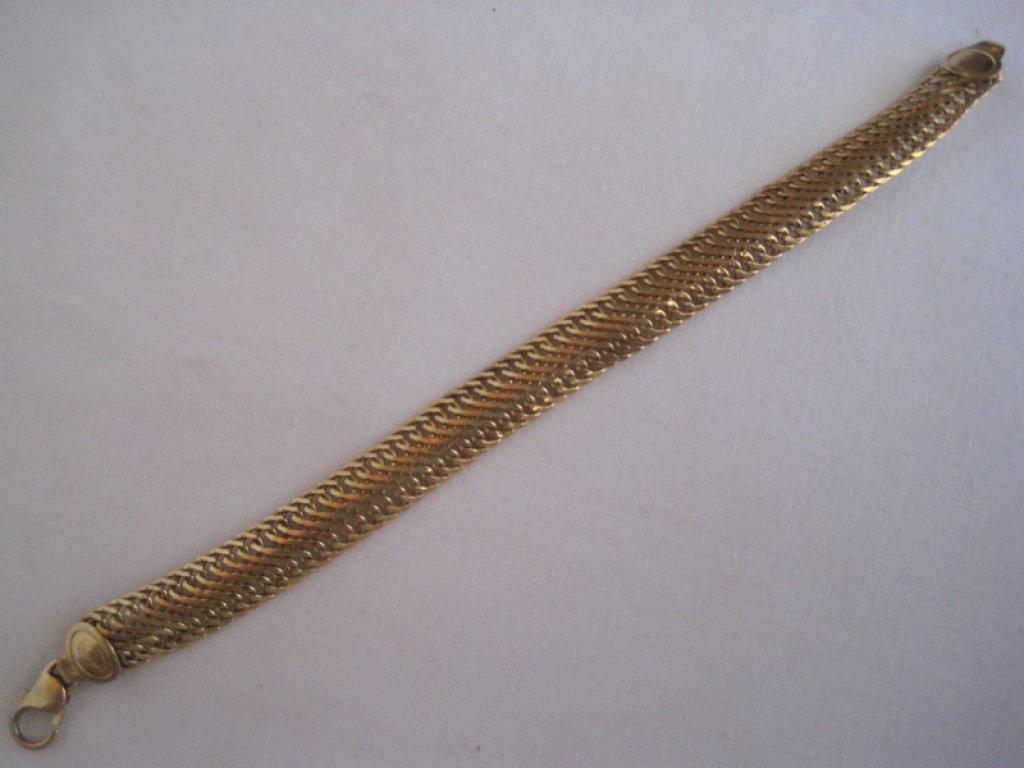 Stamped 14kt Italy Snake Style Bracelet