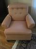 Depression Era Style Arm Chair w/ Tufted Back & Mahogany Feet