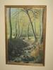 """Peinnre Spa"" Oil on Canvas Forest w/ Babbling Brook Landscape Scene by Hoegne"
