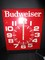 Budweiser Classic Metal Wall Décor Clock Battery Powered