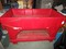 Red Plastic 2 Tier Beer/Drink Icer w/ Wheels