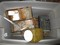 Lot - Misc. Metal Containers w/ Contents, Nails, Etc.