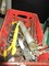 Misc. Tools Lot - Saw, Vice, Hand Turn Screw, Clamps, Grease Gun, Etc.