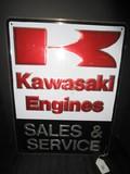 Kawasaki Engines Sales & Service Metal Sign/Wall Décor