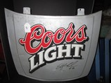 Coors Light Metal Wall Décor Signed Sterling Marlin #40