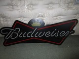 Budweiser Vintage Light Up Metal Wall Art/Décor w/ Chains