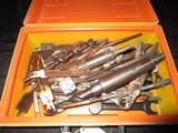 Misc. Tool Lot - Saw Pieces, Screws, Clamps in Stihl Box
