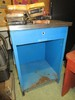 Blue Metal Work Side Table w/ 1 Drawer