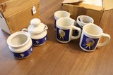 Morton Salt Motif Set - 4 Cups, Creamer/Sugar