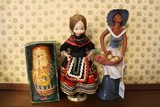 Lot - Gypsy Design Doll, African-American Clay Doll
