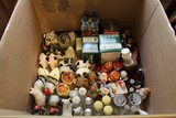 Lot - Box of Salt/Pepper Shakers w/ Whimsical/Various Designs