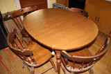 Oval Table Wooden Veneer w/ 4 Wooden Chairs