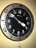 Skytime Black/Silver Wall Clock