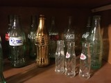Shelf Lot - Vintage Coca-Cola Bottles, 7 Up! Bottle, Etc.