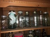 Lot - Ball Perfect Mason Jars, Atlas Mason Jars, Kerr Mason Jar, Etc.