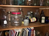 Lot - Vintage Jars Coca-Cola, Vintage Cod Liver Oil, Ball Perfect Mason