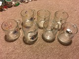 7 McDonald's Olympics Glasses © 1980/1984, 3 1/4