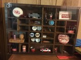 Dr. Pepper Collectibles in Wood/Plastic Showcase Box