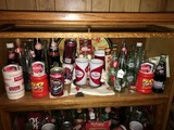 Dr. Pepper Collectibles Lot - Vintage Bottles, Glasses, Tin Platter, Etc.