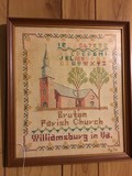 Braton Parish Church, Williamsburg in V.A. Stitch Art