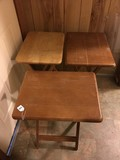3 Wooden Fold Out Tables