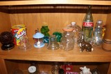 Shelf Lot - 1964 World's Fair Amer Glass, Coke Bottle, Glass Décor, Etc.