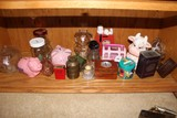 Shelf Lot - Vintage Hershey's Coca, Glass Décor, Piggy Banks, Etc.
