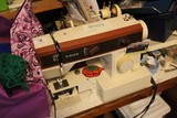 Singer Sewing Machine Electric 70's Era w/ Accessories