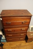 4 Drawer Dresser Grooved/Lined Design