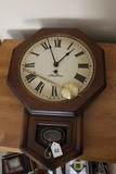 Wood Seth Thomas Wall Mounted Clock w/ Pendulum