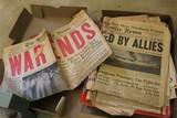 Vintage Newspapers, WWII Ends, JFK Shot, Etc.