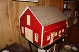 Wooden Vintage Toy Barn w/ Contents