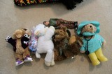 Toy Lot - Plush Paddington Bear, Lamb, Bear w/ Glasses, Etc.