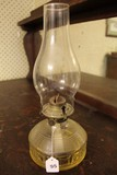 Oil Lamp w/ Raised Panel Design w/ Hurricane Glass