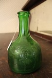 Green Glass Whitehouse Vinegar Ornate Pattern Bottle