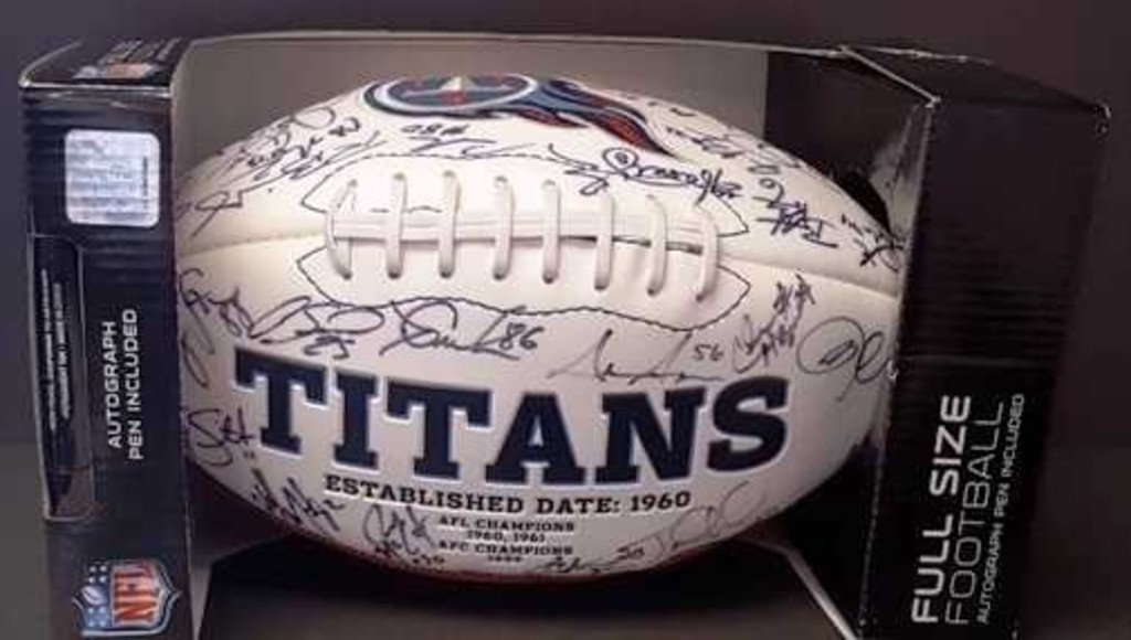 Tennessee Titans 2011-12 Autographed Football