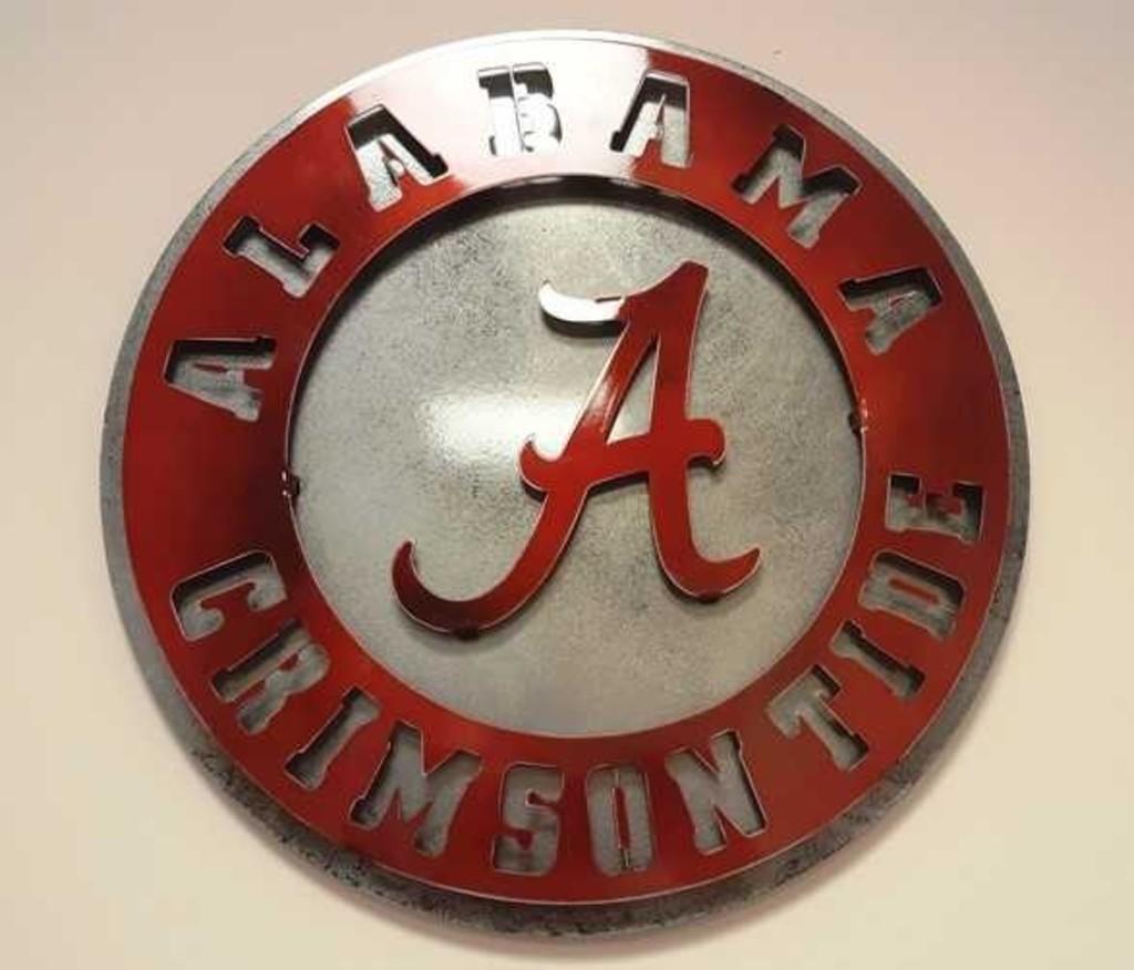 University of Alabama Metal Art