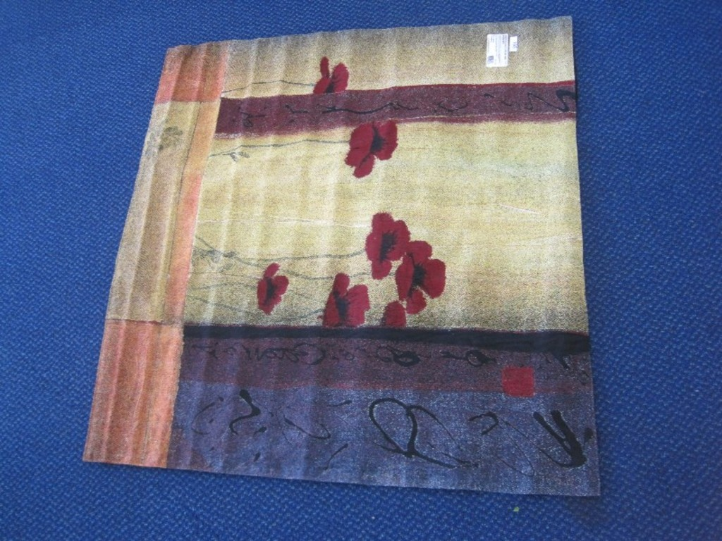 Timeless Tradition In Upscale Home Décor Fine Art Tapestries Poppy Tile I  Wall Tapestry 100% ...