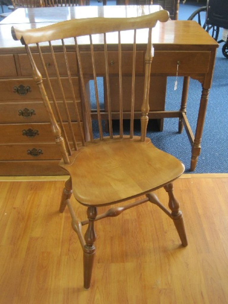 Lot Nichols Stone Co Old Pine Windsor Fiddle Back Chair