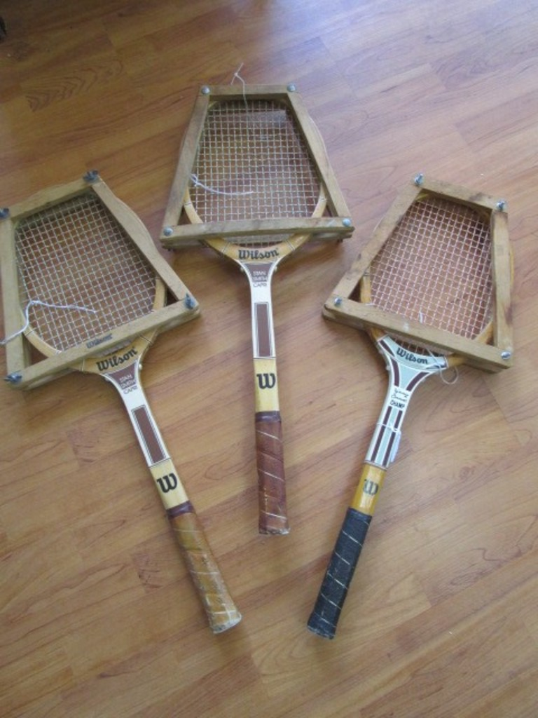 on sale a06e5 ea183 Lot: 2 Wilson Stan Smith Capri Tennis Racket, 1 Jimmy ...