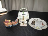 Misc. Lot - Andrea by Sadek Ceramic Coin Bank Purse, Carousel Horse, Ark