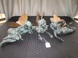 3 Fairy Garden Décor w/ Brass/Tin Wings