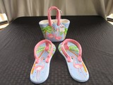 3 Ceramic Décor Flamingo Design Hand Bag Pair Sandals by © Anne Ormsby