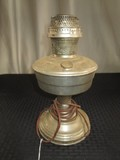 Raised Metal Gas-To-Electric Lamp Pierced Base