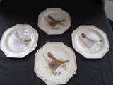 Lenox Riverwood Ruffed Grouse by Catherine Melony 4 Plates