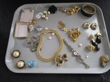 Misc. Costume Jewelry Lot - Earrings, Necklaces, Watch, Etc.